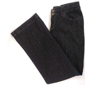 Eddie Bauer Curvy Trouser Wide Leg Black Jeans Sz4